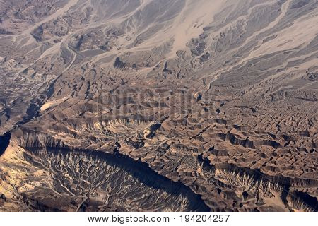 Desert View With Rugged Terrain