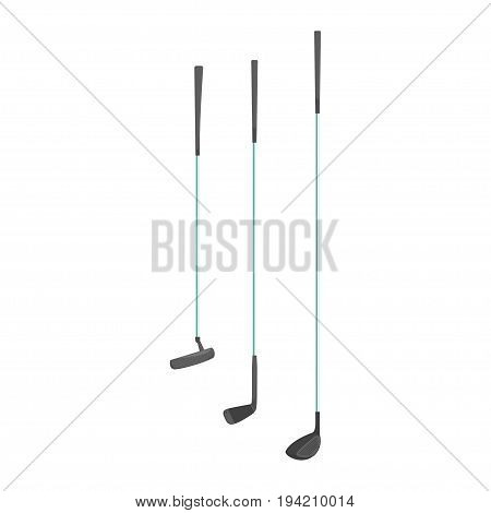 Sport golf clubs cartoon vector Illustration isolated on a white background