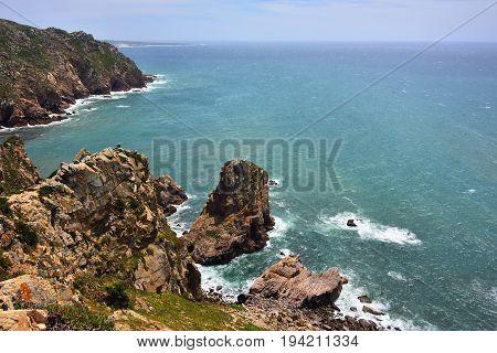 Roca Cape (cabo Da Roca) In Sintra Portugal