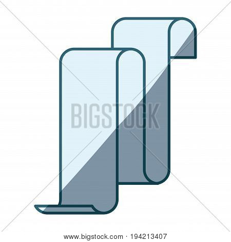 blue shading silhouette of continuously long sheet vector illustration