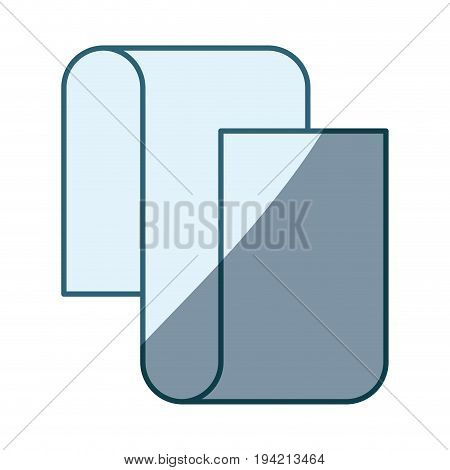 blue shading silhouette of continuously long sheet in closeup vector illustration