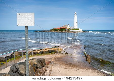 St Mary's Lighthouse In Northumberland