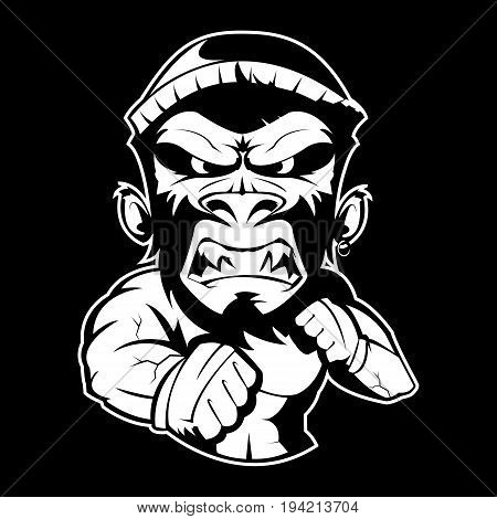 wild jungle round fight evil crazy monkey