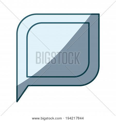 blue shading silhouette of bubble speech vector illustration