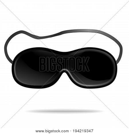 Sleep Mask Vector. Isolated Illustration Of Sleeping Mask Eyes. Help To Sleep Better