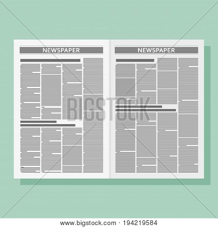 Graphical design newspaper template. Vector flat illustration