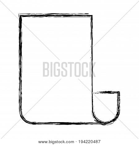 monochrome blurred silhouette of continuously sheet vector illustration
