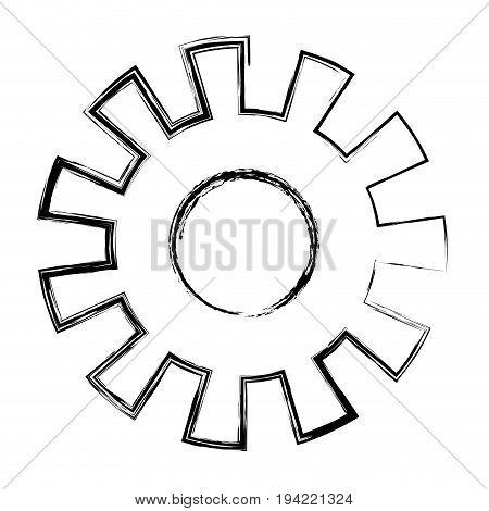 monochrome blurred silhouette of pinion model one vector illustration