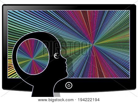 Visual Stimulation flooding the Brain. Watching television or computer games affect the brain development of kids