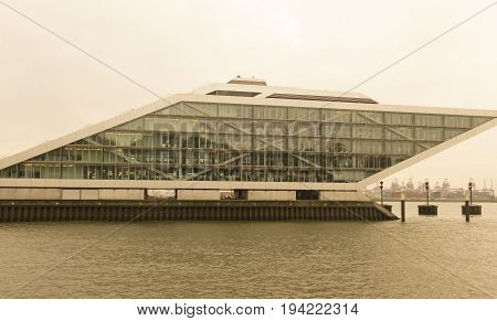 The Dockland Building In Hamburg, Germany