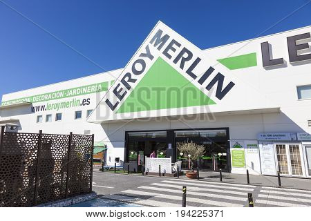 Huelva Spain - June 3 2017: French building supplies store chain Leroy Merlin in the city of Huelva. Andalusia Spain