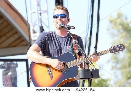 Josh Turner performs on day 3 of the 2017 Temecula Valley Wine and Balloon Festival on June 4, 2017 at the Lake Skinner Recreation Area in Temecula, CA.