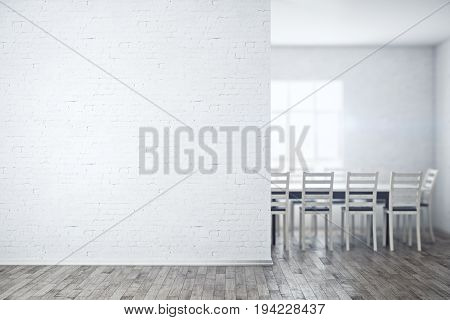 Meeting Room With Empty Wall
