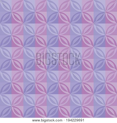 pastel pale violet lilac color tender tile. vintage retro style geometry seamless pattern. vector illustration of repeatable motif