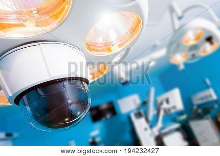 Bright lamps for medical operating room; operating room; modern medical equipment