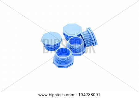 Image of outer screw PVC plug with a white background.