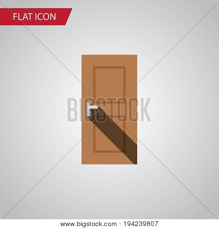 Isolated Door Flat Icon. Entrance Vector Element Can Be Used For Door, Entrance, Exit Design Concept.