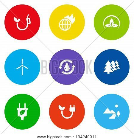 Set Of 9 Ecology Icons Set.Collection Of Treatment, Reforestation, Eco And Other Elements.