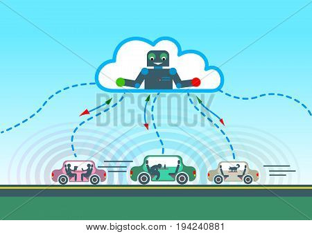 Autonomous Car Driving On Road And Sensing Systems