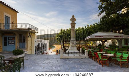 ANDROS, GREECE - MAY 25, 2017: Chora of Andros island early in the morning on May 25, 2017.
