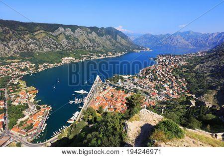 Kotor Fortress in Montenegro, Europe