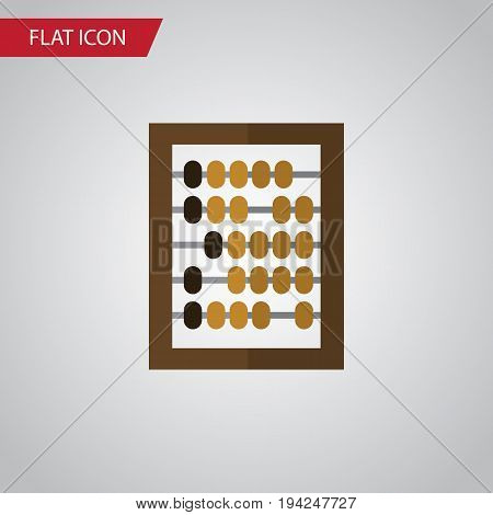 Isolated Abacus Flat Icon. Counter Vector Element Can Be Used For Counter, Abacus, Calculator Design Concept.