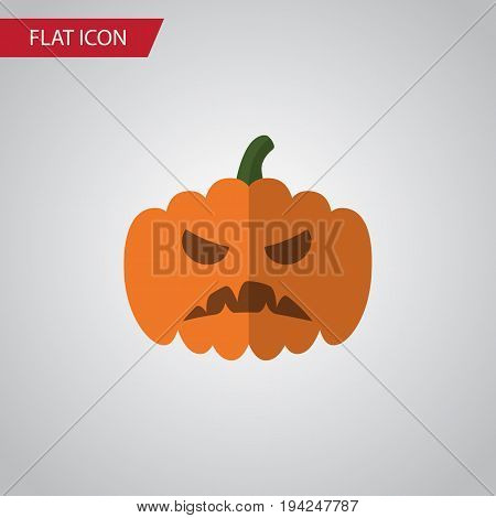 Isolated Gourd Flat Icon. Pumpkin Vector Element Can Be Used For Pumpkin, Gourd, Halloween Design Concept.