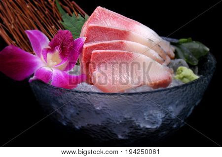Hamachi Sashimi Is Raw Yellow Tail Fish