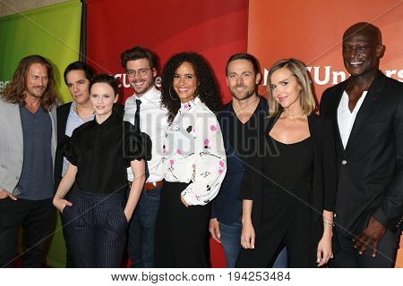 LOS ANGELES - MAR 20: Jason Lewis, Yul Vazquez, Sarah Ramos, Francois Arnaud, Parisa Fitz-Henley, Dylan Bruce, Arielle Kebbel, Peter Mensah on March 20, 2017 in Beverly Hills, CA
