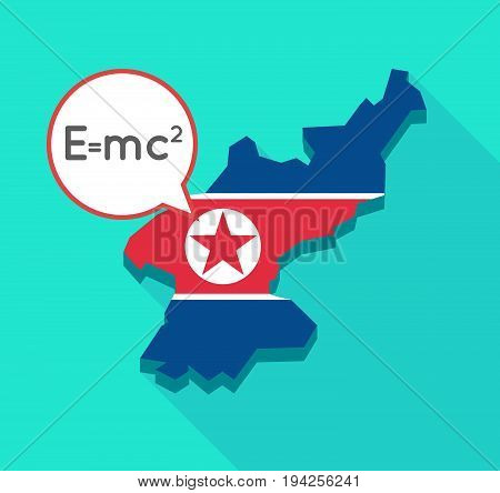 Long Shadow North Korea Map With The Theory Of Relativity Formula