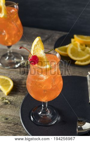 Cold Refreshing Singapore Sling Cocktail