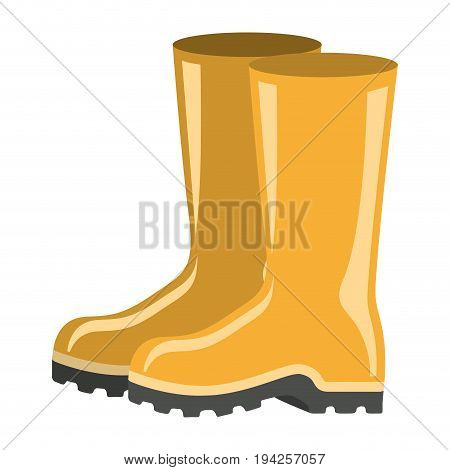 colorful silhouette of fishing plastic boots accesory vector illustration