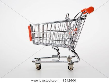 shopping cart side view