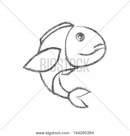 blurred sketch silhouette of bass fish vector illustration