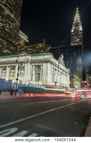 Grand Central Terminal Facade From Park Avenue