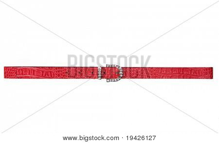 red woman belt