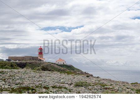 Lighthouse At Saint Vincent Cape (portugal)