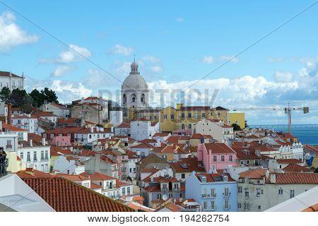 Views Of The Alfama From The Miradouro De Santa Luzia (lisbon, Portugal)