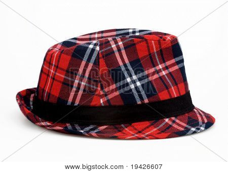 scotch pattern felt hat