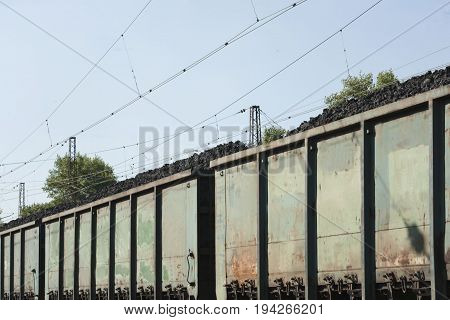 Railroad Hopper Cars Used For Delivering Coke To Steel Mills