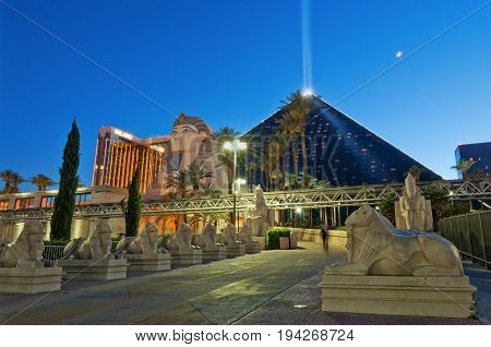 Luxor Las Vegas A Hotel And Casino. Usa