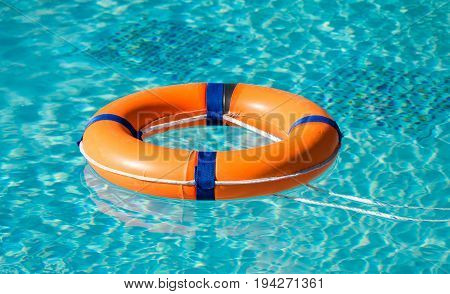 Rescue on the water Life ring on the water