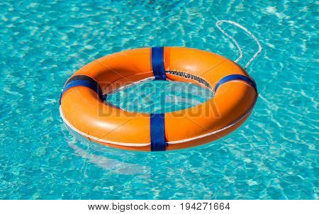 Life ring on the water Rescue on the water