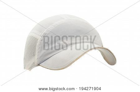Isolated cap with visor hat against white background