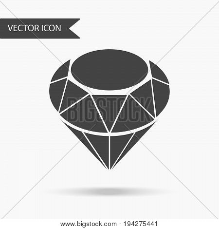 Vector illustration of a diamond icon ruby. Flat icon on white background