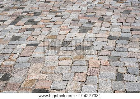 Old Stone Pavement - Mixed Cobblestone Background