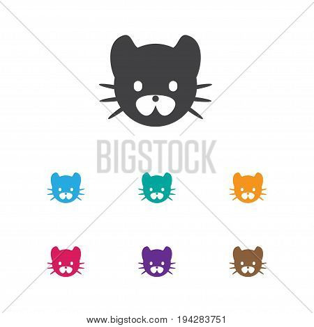 Vector Illustration Of Animal Symbol On Wild Cat Icon. Premium Quality Isolated Feline Element In Trendy Flat Style.