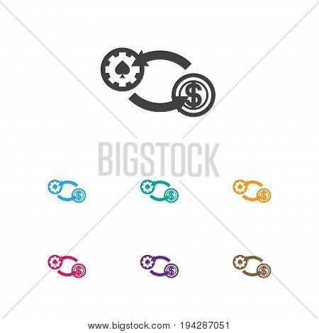 Vector Illustration Of Business Symbol On Exchange Icon. Premium Quality Isolated Swap Element In Trendy Flat Style.