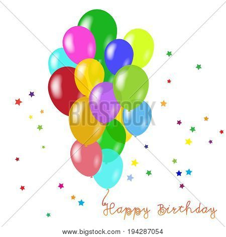 Holiday vector background with colorful balloons. Birthday