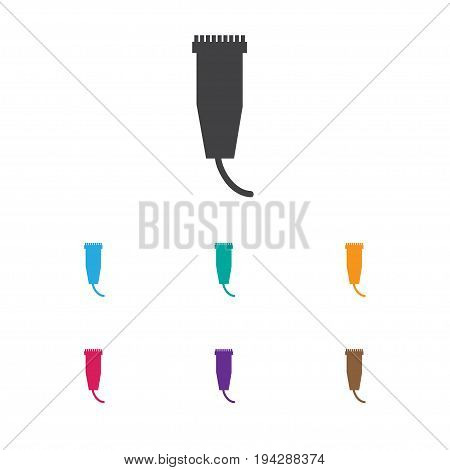 Vector Illustration Of Barbershop Symbol On Cutting Machine Icon. Premium Quality Isolated Electric Shaver Element In Trendy Flat Style.